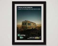 Breaking Bad Quadro Moldura Seriados Tv