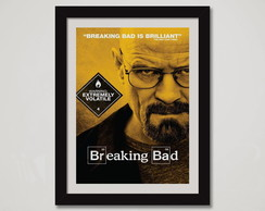 Quadro Breaking Bad Moldura Heisenberg