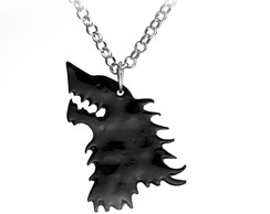 Colar Preto Game Of Thrones Stark Lobo 7