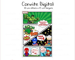Convite Digital - Super Her�is