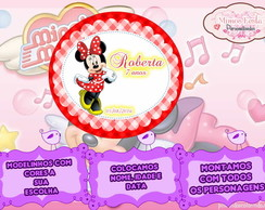 R�tulo oval 8,5x8 Minnie