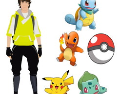 Kit Festa Infantil Pokemon Go- 6p�s