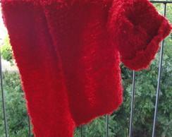 Conjunto Manta e Touca Vermelha