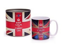Caneca Porcelana Keep Calm And Carry On