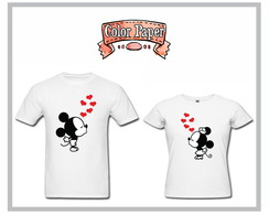 Camisetas Mickey e Minnie - 2 Camisetas