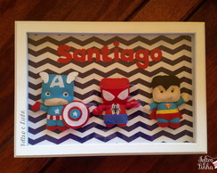Quadro Super Her�is 33 x 23 cm