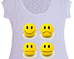 Blusa T-shirt Emoticons