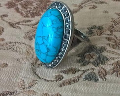 Vintage Turquoise Anel