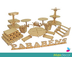 Kit Decora��o Festa MDF - 1023-E