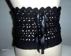 Espartilho Preto em crochet