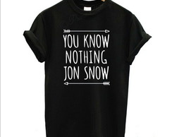 Camiseta Game of Thrones - Jon Snow