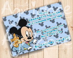 Convite Virtual Mickey Baby
