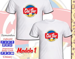 Kit 02 Camisetas Ch� Bar Personalizada