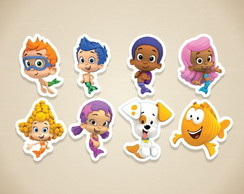 Apliques Bubble Guppies - 3 a 5 cm