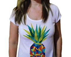 T-shirt Camiseta Feminina Abacaxi color