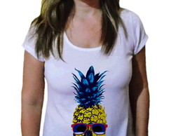 T-shirt Camiseta Abacaxi Caveira color