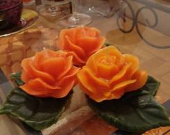 Trio de Velas flor com base