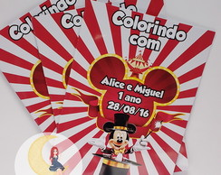 Revista Para Colorir Circo do Mickey