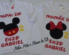 Camisetas Festa Mickey e Minnie