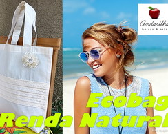 ECOBAG RENDA NATURAL