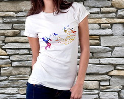 Camiseta Feminina - Music Jazz