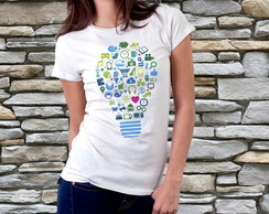 Camiseta Feminina - Think Blue