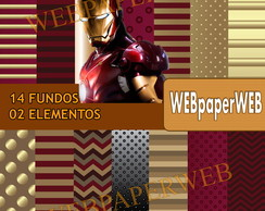 Kit Scrapbook Digital Homem de Ferro