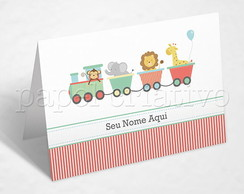 Cart�o Personalizado - ANIMAL TRAIN