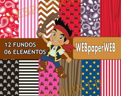 Kit Scrapbook Digital Jake e os Piratas