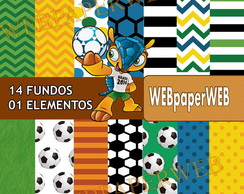 Kit Scrapbook Digital futebol
