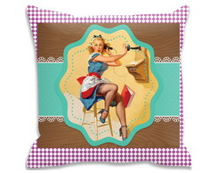 Capa De Almofada Pin Up Retro