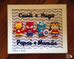 Quadro Super Her�is 41 x 35 cm