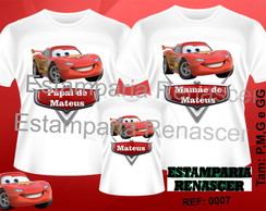 Kit Camiseta Aniversario Carro Disney