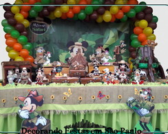 Decora��o festa infantil mickey safari