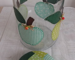 Pote patchwork ma�� verde