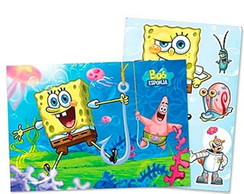 Kit Decorativo Cartonado Novo Bob Esponj