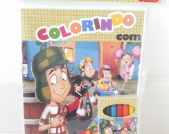 Kit Colorir Cx Giz Personalizado Chaves