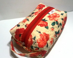 Kit necessaire Floral c/ 2pe�as
