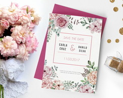 Save The Date Floral