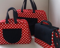 Kit bolsas Minnie Mouse 3 unidades
