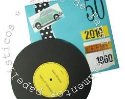 Convite Disco Anos 60