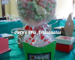 Topiara de marshmallow