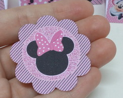 Tag/Topper/Aplique Minnie rosa
