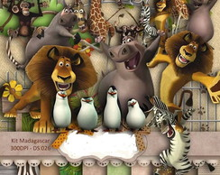 Kit Scrapbook Digital - Madagascar (saf�