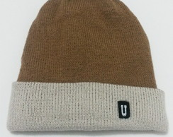Gorro Dupla-Face Marrom/Bege