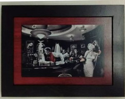 Quadro Placa Elvis e Marilyn