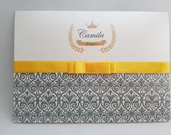 Convite casamento preto dourado oferta comprar usado  Brasil