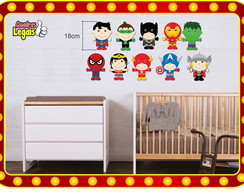 Kit 10 Quadros Super Her�is Baby Batman