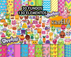 Kit Scrapbook Digital Shopkins