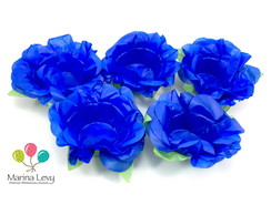 Kit Forminhas 40un. Flor Azul Royal S/F